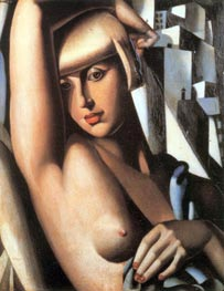 Portrait of Suzy Solidor, 1933 by Lempicka | Painting Reproduction