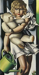Portrait of Miss Poum Rachou, 1933 by Lempicka | Painting Reproduction