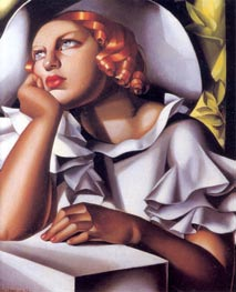 Wide Brimmed Hat, 1933 by Lempicka | Painting Reproduction