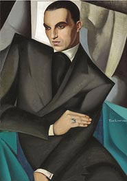 Portrait of Marquis Sommi | Lempicka | Painting Reproduction