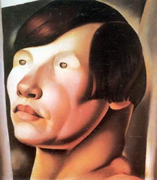 Head of Slavic Woman | Lempicka | Painting Reproduction