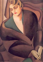 Portrait of Baroness Renata Treves | Lempicka | Painting Reproduction