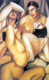 Group of Four Nudes | Lempicka | Painting Reproduction