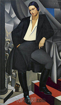 Portrait of the Duchess of La Salle, 1925 | Lempicka | Painting Reproduction