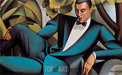 Portrait of the Marquis d'Afflito, 1925 | Lempicka | Painting Reproduction