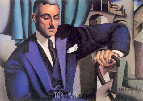 Portrait of Prince Eristoff, 1925 | Lempicka | Painting Reproduction