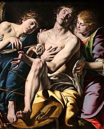 Saint Sebastian, c.1620/30 by Tanzio da Varallo | Painting Reproduction
