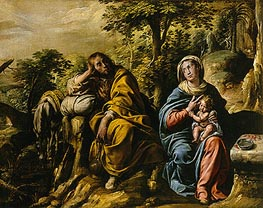 The Rest on the Flight into Egypt | Tanzio da Varallo | Painting Reproduction
