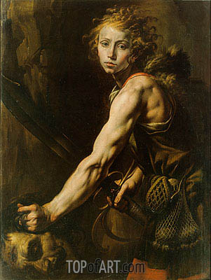 David with the Head of Goliath, c.1625 | Tanzio da Varallo | Painting Reproduction