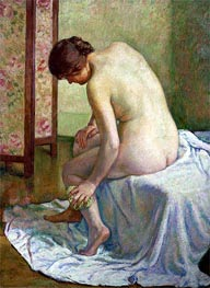 The Bather, undated by Rysselberghe | Painting Reproduction