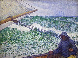 The Man at the Tiller, 1892 von Rysselberghe | Gemälde-Reproduktion