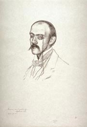 Portrait of a Man with a Monacle (Henri Regnier), undated von Rysselberghe | Gemälde-Reproduktion
