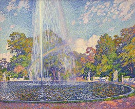 Fountain in the Park of Sanssouci Palace near Potsdam | Rysselberghe | Gemälde Reproduktion