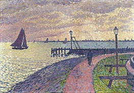 Entrance to the Port of Volendam, c.1896 by Rysselberghe | Painting Reproduction