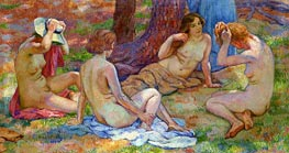 Four Bathers | Rysselberghe | Painting Reproduction