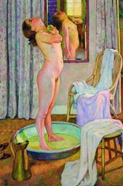 Young Girl in the Bath Tub, 1925 von Rysselberghe | Gemälde-Reproduktion