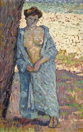 Young Woman In The Blue Peignoir | Rysselberghe | Painting Reproduction