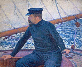Paul Signac Aboard His Sailboat | Rysselberghe | Gemälde Reproduktion