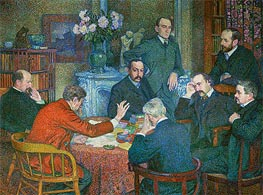 The Lecture by Emile Verhaeren (Reading in Saint-Cloud) | Rysselberghe | Gemälde Reproduktion