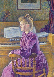 Maria Sethe at the Harmonium | Rysselberghe | Painting Reproduction