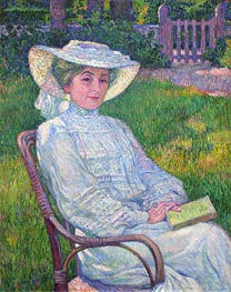 Lady in White (Portrait of Mrs. Theo Van Rysselberghe), 1926 von Rysselberghe | Gemälde-Reproduktion