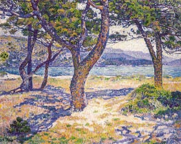 The Mediterranean at Le Lavandou | Rysselberghe | Painting Reproduction