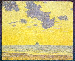 Big Clouds | Rysselberghe | Gemälde Reproduktion