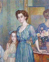 Mme Bodenhausen with a Child, 1910 von Rysselberghe | Gemälde-Reproduktion