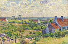 Landscape with Houses | Rysselberghe | Gemälde Reproduktion