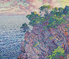 La pointe du Rossignol (Cap Layet), 1905 by Rysselberghe | Painting Reproduction
