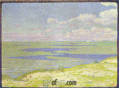 View of the River Scheldt, 1893 | Rysselberghe | Painting Reproduction