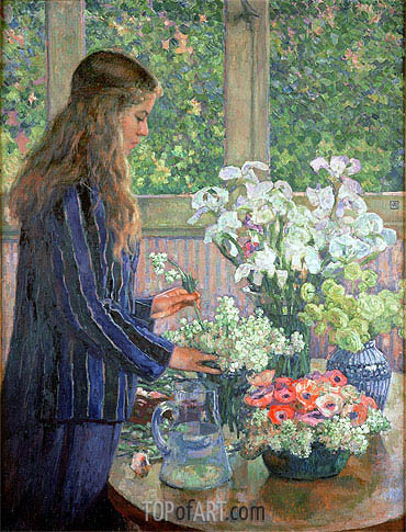 Garden Flowers, undated | Rysselberghe | Painting Reproduction