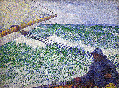 The Man at the Tiller, 1892 | Rysselberghe | Gemälde Reproduktion