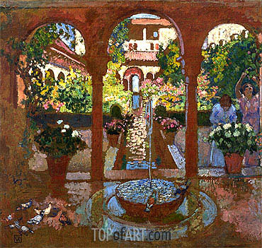 Garden and Arcade, undated | Rysselberghe | Painting Reproduction