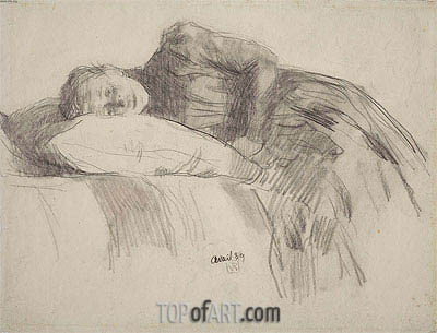 Young Girl Reclining, 1889   Rysselberghe   Gemälde Reproduktion