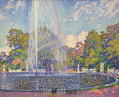 Fountain in the Park of Sanssouci Palace near Potsdam, 1903 | Rysselberghe | Gemälde Reproduktion