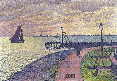 Entrance to the Port of Volendam, c.1896 | Rysselberghe | Gemälde Reproduktion