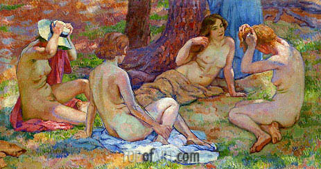 Four Bathers, undated | Rysselberghe | Gemälde Reproduktion