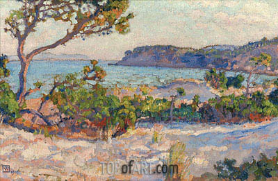 Dunes in Faviere, 1919 | Rysselberghe | Painting Reproduction