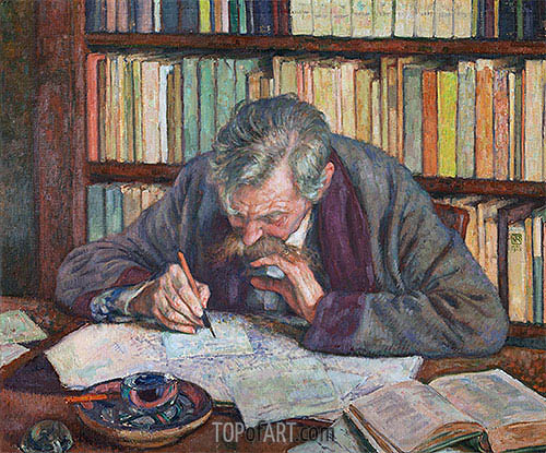 Emile Verhaeren, 1915 | Rysselberghe | Painting Reproduction
