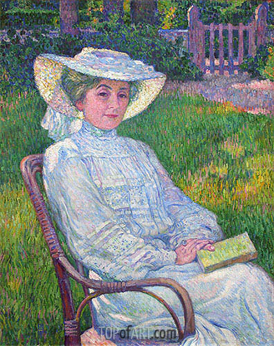 Lady in White (Portrait of Mrs. Theo Van Rysselberghe), 1926 | Rysselberghe | Painting Reproduction