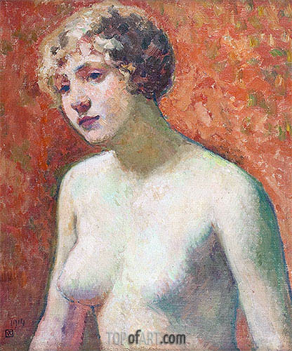 Bust of a Young Girl, 1914   Rysselberghe   Painting Reproduction
