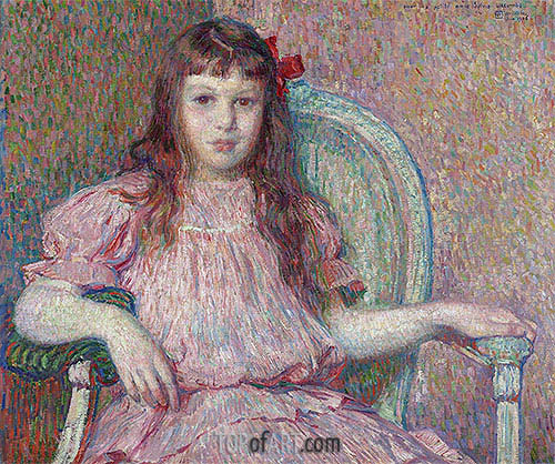 Portrait of Sylvie Lacombe, 1906 | Rysselberghe | Painting Reproduction