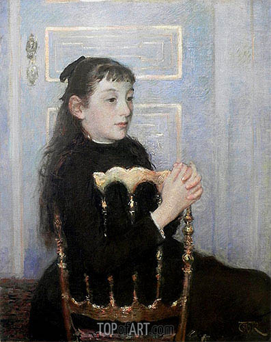 Portrait of Camille van Mons, 1886 | Rysselberghe | Painting Reproduction