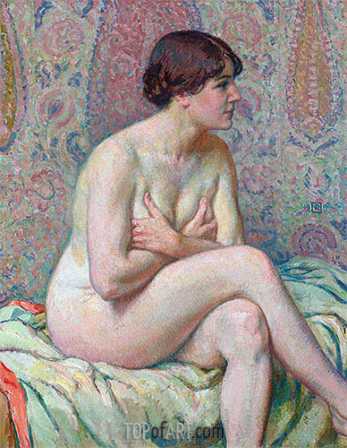 Seated Nude, 1916 | Rysselberghe | Painting Reproduction