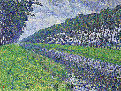 Canal in Flanders, 1894 | Rysselberghe | Painting Reproduction