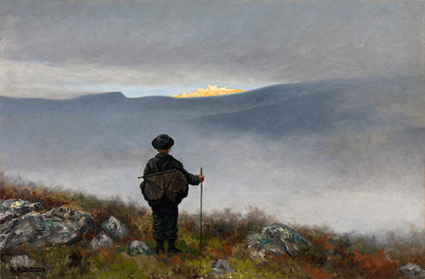 Far, Far Away Soria Moria Palace Shimmered Like Gold, 1900 | Theodor Severin Kittelsen | Painting Reproduction
