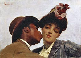 The Kiss, 1887 von Theodore Jacques Ralli | Gemälde-Reproduktion