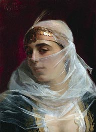Turkish Woman, undated von Theodore Jacques Ralli | Gemälde-Reproduktion