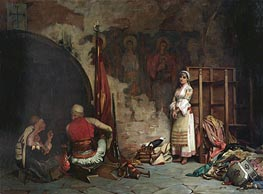 The Captive (Turkish Plunder), 1885 von Theodore Jacques Ralli | Gemälde-Reproduktion